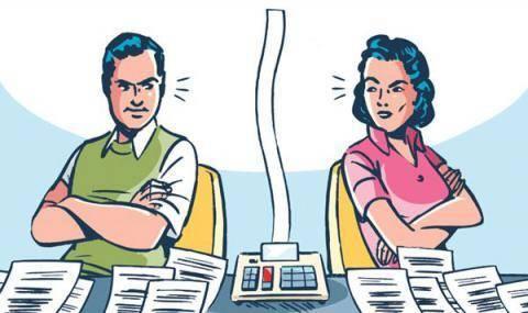 Раздел общих долгов супругов